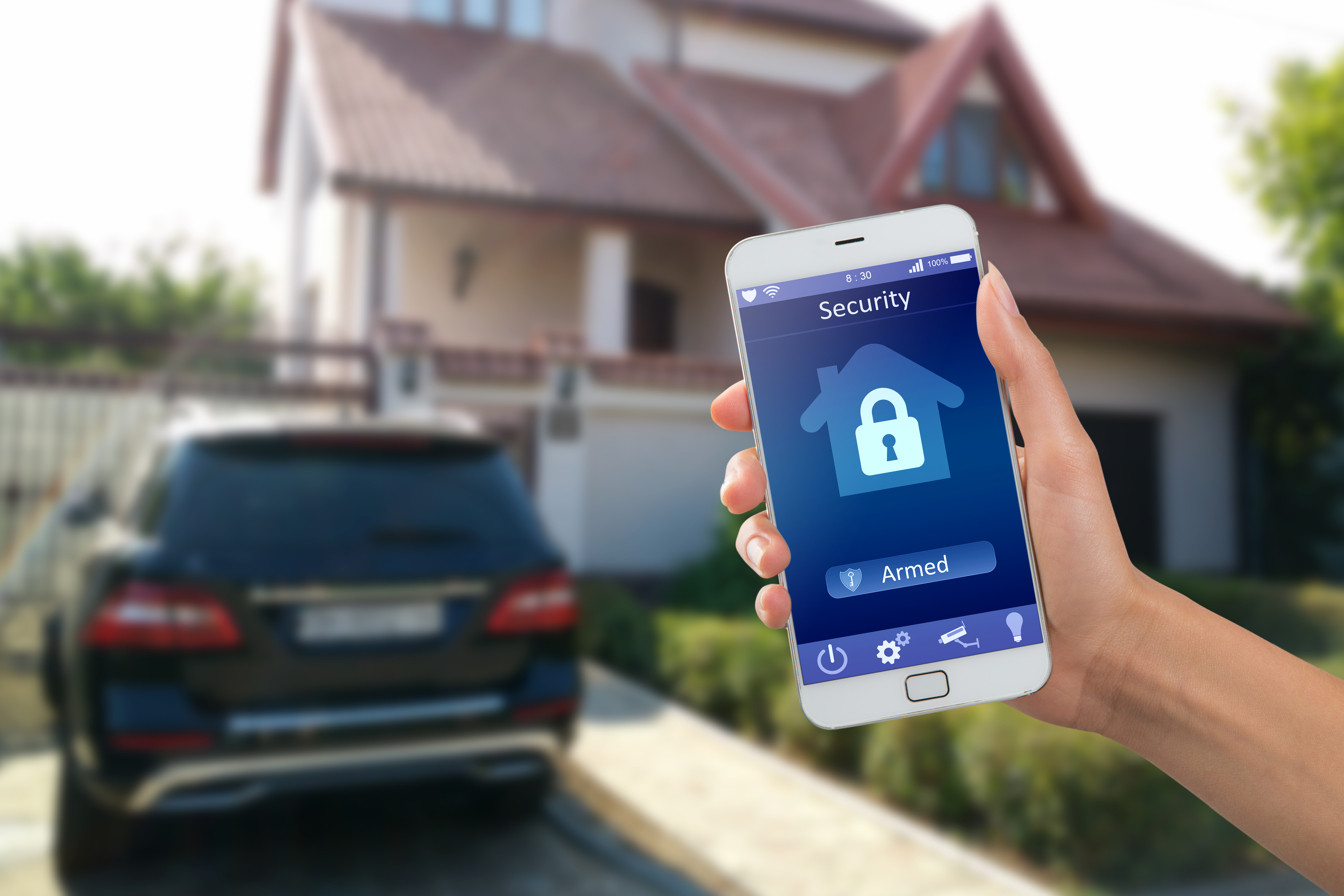 Home security mobile app